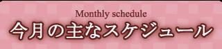 今月の主なスケジュール